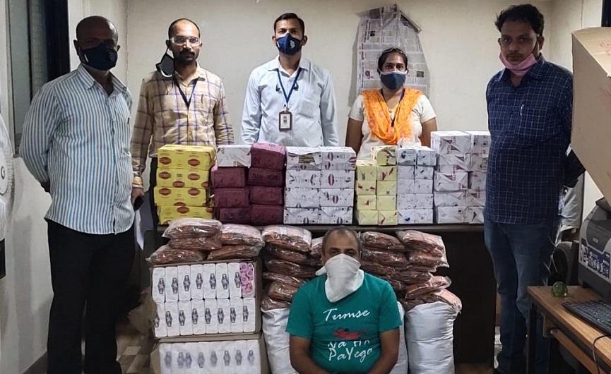 Pune Police Crime Branch seize cigarettes