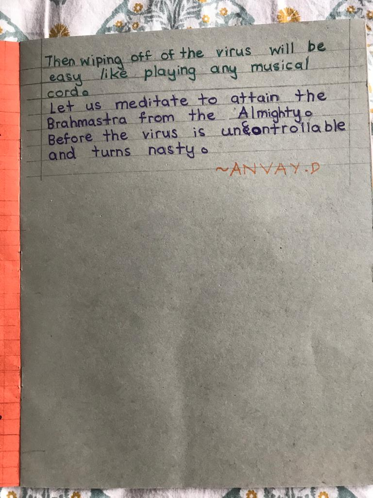 Anvay Deshpande Corona poem