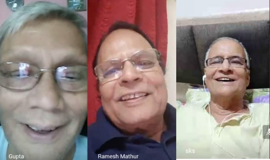 Senior citizens meet on video conference in Pune