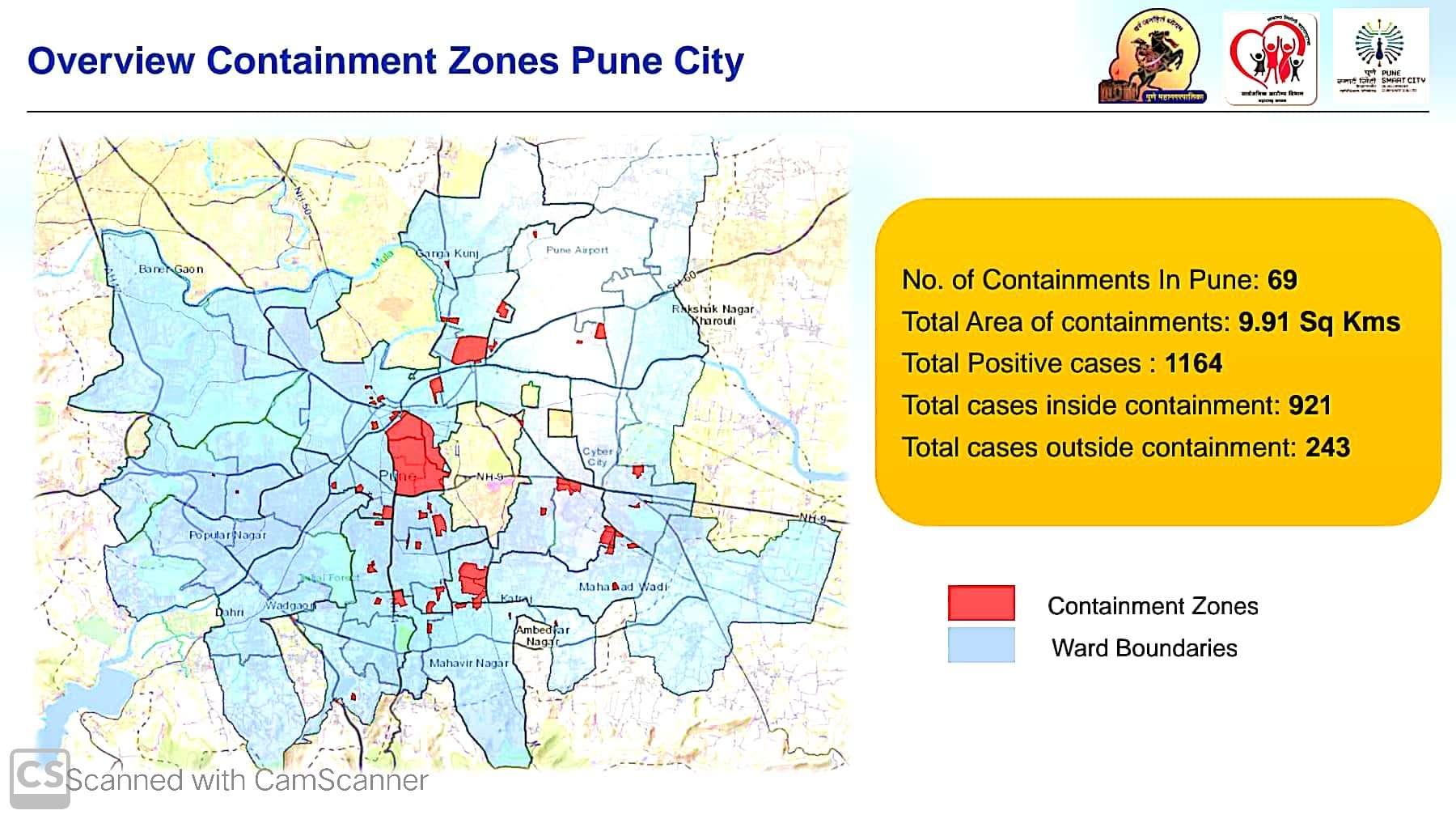 Containment zones in Pune city