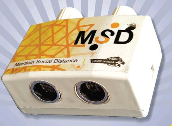 India's 1st Social Distance Maintaining DeviceCreated by SIBM, Pune Student.