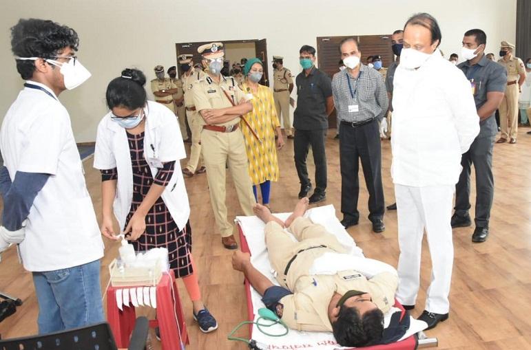 Dy CM Ajit Pawar at Pune police
