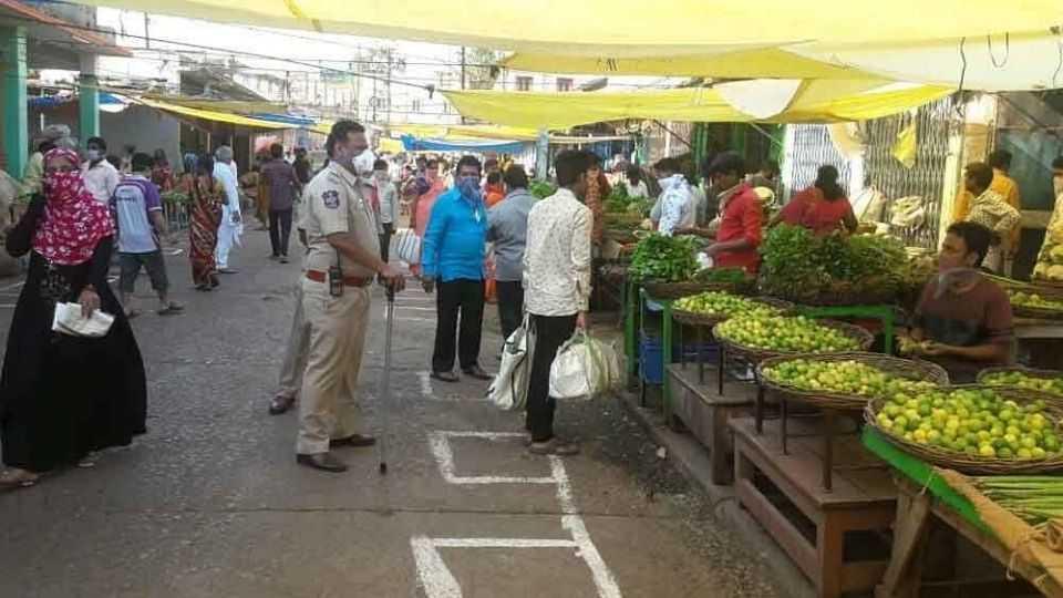 Khadki vegetable fruit market