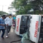 Bavdhan: Accident of ambulance carrying 12 people to COVID hospital
