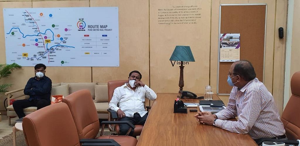 Pune Metro Anna Bansode meeting