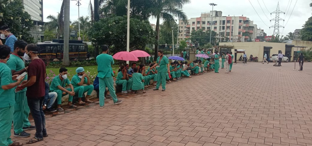 Aditya Birla Hospital Nurses strike