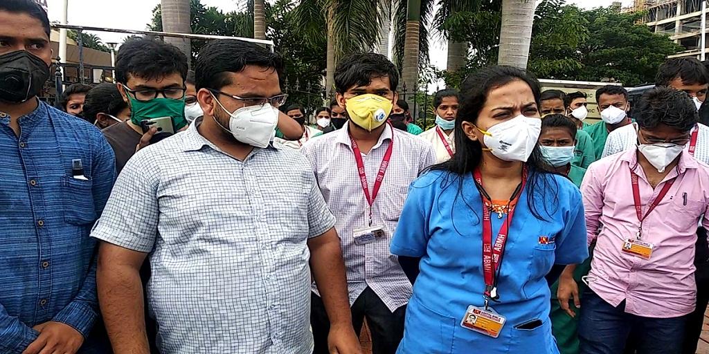 Doctors of Aditya Birla Hospital strike