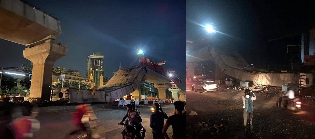 Pune Fact Check Viral Photos Of Metro Line Collapse Does Not Belong To Pune Metro Punekar News