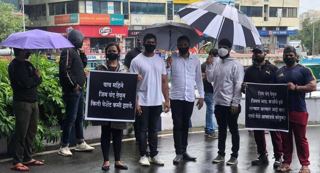 Gym Owners Protest in Pune