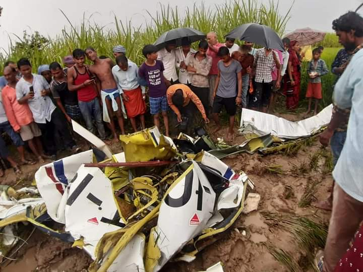 aircraft crash Azamgarh