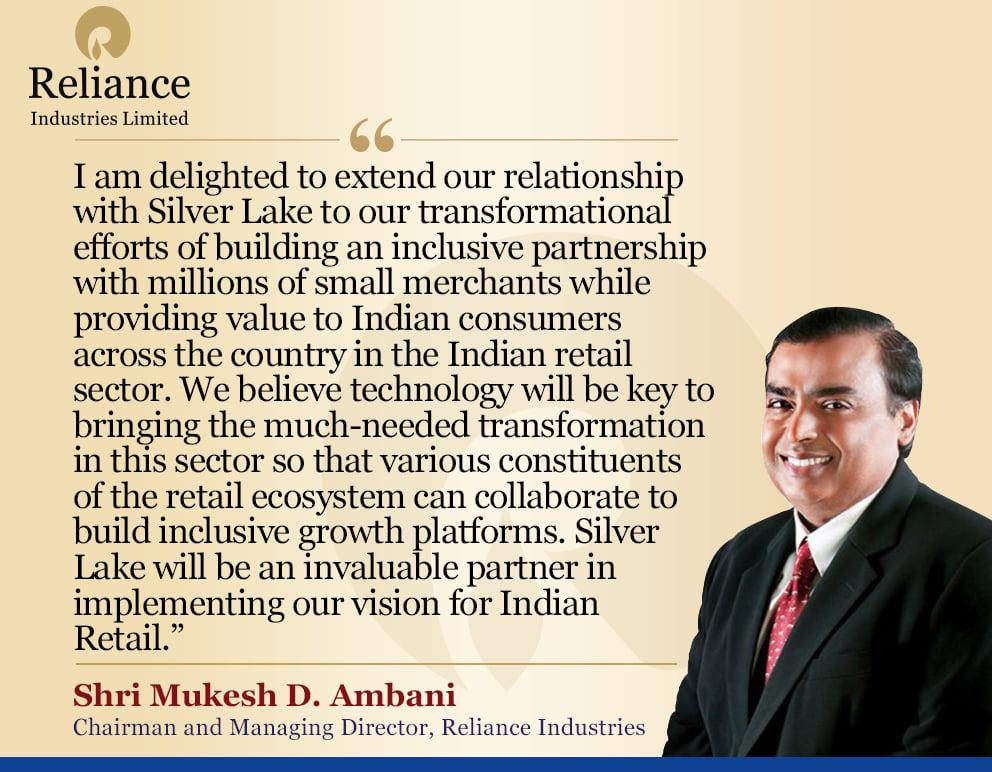 reliance Mukesh Ambani