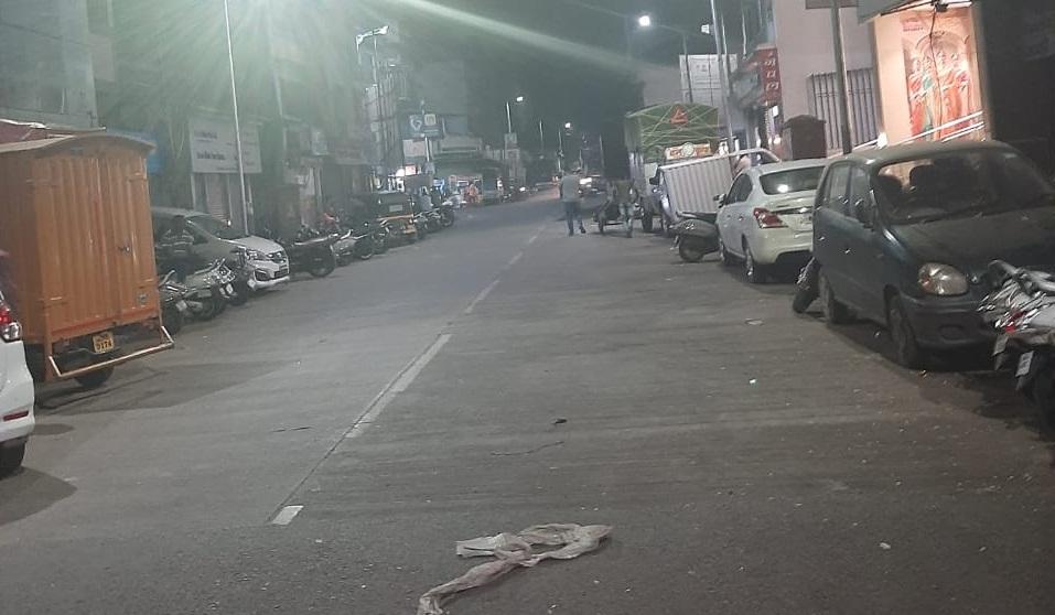 Bhavani peth road cleared