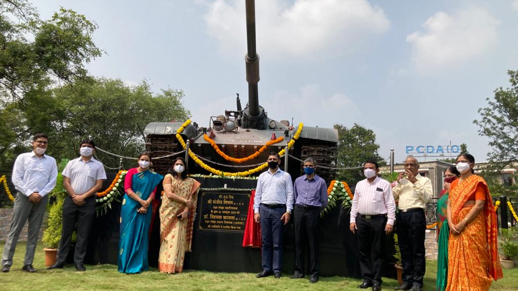 Pune: Army War Trophy T-55 Tank Installed At PCDA Office