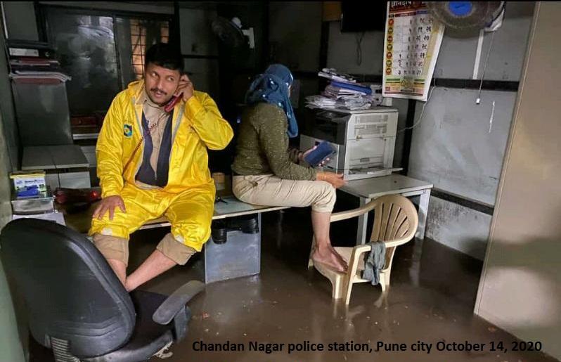 water enter Chandan Nagar police station Pune