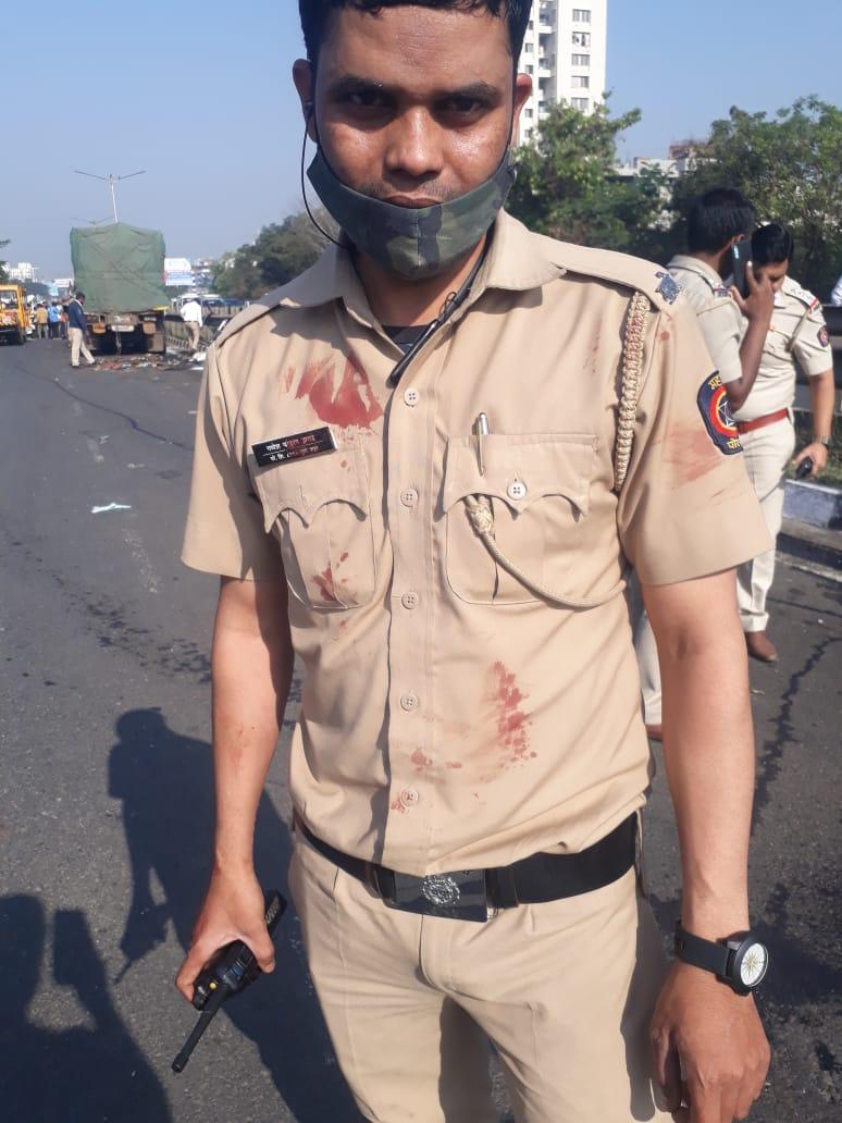 Policeman Ganesh Zagde who saved two lives